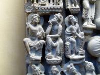 "Detail of ""Miracle of Saraswati"", 2nd century CE, Lahore Museum."